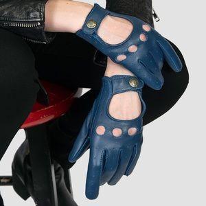 🆕 Antique Blue Leather Gloves